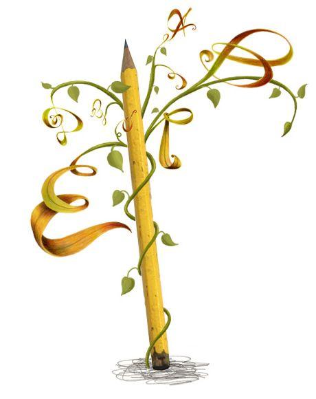 Ein Text wächst wie ein Buchstabenbaum